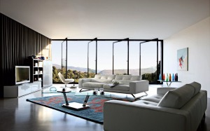 interior-design-furnishings-furniture-bed-tv-carpet-table-open-the-windows-doors-vases